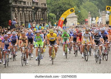 BRUSSELS, BELGIUM - JULY 5: Cyclists at the start of the second stage of the Tour de France on July 5, 2010 in Brussels, Belgium