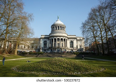 BRUSSELS, BELGIUM - MARCH 17, 2016: Cinquantenaire Museum (Musee du Cinquantenaire/Jubelpark museum). Part of the Royal Museums for Art and History. One of the largest museums in Europe.