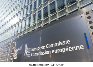 Brussels, Belgium. March 2017.  Le Charlemagne building,  headquarter of European commission