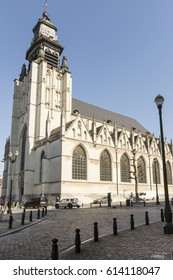 Brussels, Belgium. March 2017. A view of Notre Dame de la Chapelle church in Marolles district