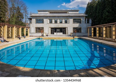 BRUSSELS, BELGIUM – MARCH 30, 2019: Villa Empain is certainly one of the most beautiful architectural masterpieces of Art Deco in Brussels, Belgium