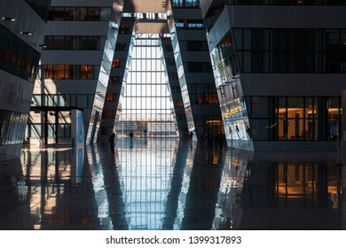 BRUSSELS, BELGIUM - May 13, 2019: NATO headquarters in Brussels