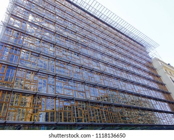 Brussels, Belgium- May 6th 2018: The Europa Building for the European Council and Council of the European Union.