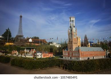 Brussels, Belgium - Novembre 25, 2014, Mini Europe in Brussels in Belgium