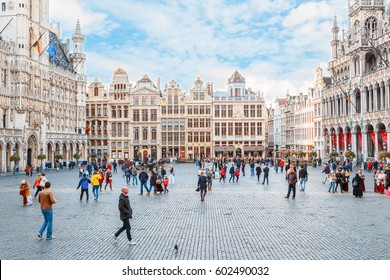 BRUSSELS, BELGIUM - OCTOBER 13, 2016: Grand place, Brussels, Belgium