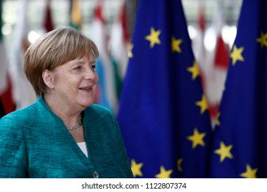Brussels, Belgium on Jun. 28, 2018.Chancellor of Germany Angela Merkel arrives for a meeting with European Union leaders.
