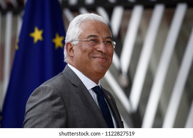Brussels, Belgium on Jun. 28, 2018. Prime Minister of Portugal, Antonio Costa arrives for a meeting with European Union leaders.