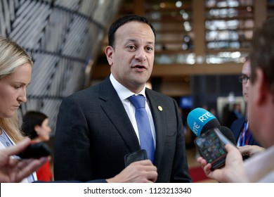 Brussels, Belgium on Jun. 29, 2018.Irish Prime Minister Leo Varadkar arrives for a meeting with European Union leaders