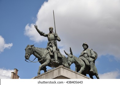 BRUSSELS, BELGIUM-AUGUST 02,2012:Monument to Don Quixote and Sancho panchez