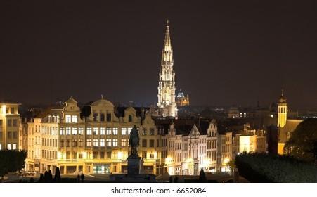 Brussels by night, Belgium