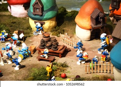 Brussels, February 2018 - The Smurf village