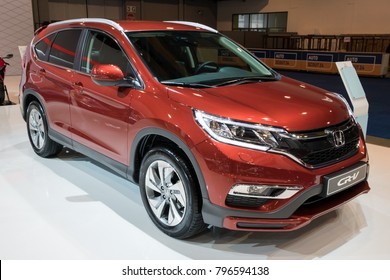 BRUSSELS - JAN 10, 2018: Honda CR-V Sporty SUV car showcased at the Brussels Motor Show.