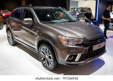 BRUSSELS - JAN 10, 2018: New Mitsubishi ASX compact SUV car shown at the Brussels Motor Show.