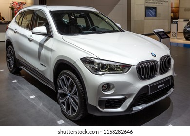 BRUSSELS - JAN 12, 2016: BMW X1 compact SUV car showcased at the Brussels Motor Show.