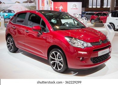 BRUSSELS - JAN 12, 2016: Citroen C3 on display at the Brussels Motor Show.