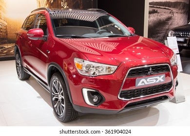 BRUSSELS - JAN 12, 2016: Mitsubishi ASX on display at the Brussels Motor Show.