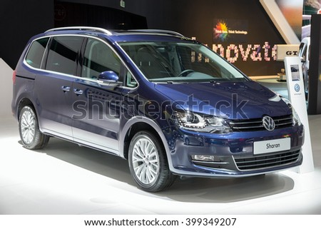 Brussels Jan 12 2016 Volkswagen Sharan Stock Photo Edit Now