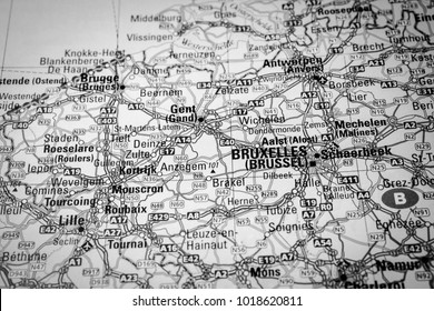 brussels on the map