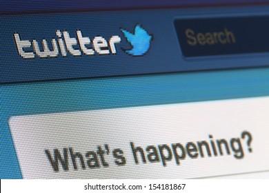 BRUSSELS - SEPTEMBER 13: Twitter Is Going Public on September 13, 2013 in Brussels