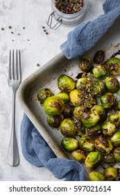 Brussels sprouts baked in the oven