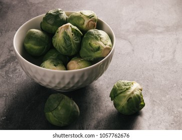 Brussels sprouts on black