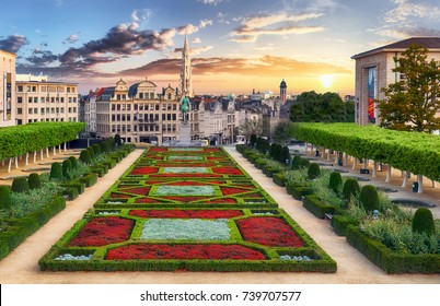 Brussels at sunset, Belgium