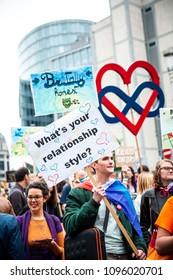 Brussels/Belgium - May 19th 2018: Belgian Pride Festival 2018
