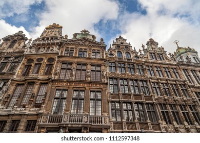 BRUSSELS-NOVEMBER 27,2012:Historic buildings in Main square, Grand Place, iconic city point of Brussels.