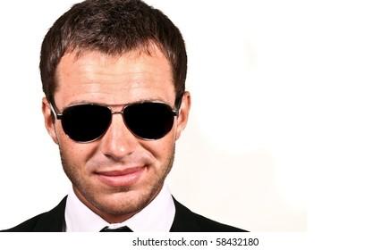 Brutal man in sunglasses
