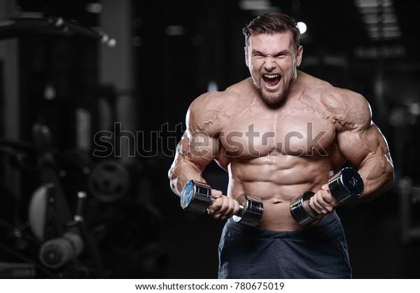 Fitness lumberjack stock image. Image of naked, muscle