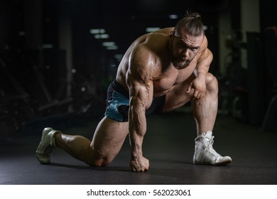 80e68c0f10b Brutal strong athletic men pumping up muscles workout bodybuilding concept  background - muscular bodybuilder handsome men · Portrait Of A Young Fitness  ...