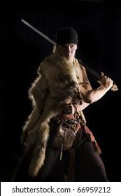 Brutal Warrior in wolf skin