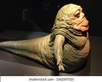 Bruxelles / Belgium - 08 21 2018 : jabba le hutt from StarWars  movie Star Wars