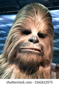 Bruxelles / Belgium - 08 21 2018 : Chewbacca in Star Wars Galaxys StarWars Identities exposition