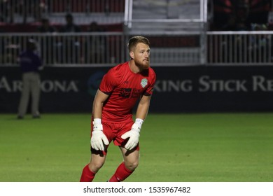 Bryan Byars goalkeeper for Energy FC at Phoenix Rising Soccer Complex in Tempe,AZ/USA Oct. 18,2019.