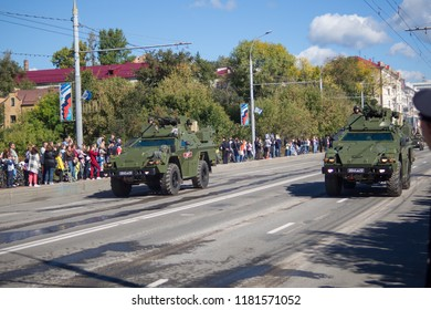Bryansk, Russia - September 17 Exploration chemical machine PXM 6 generation at the parade in honor of the city of Bryansk