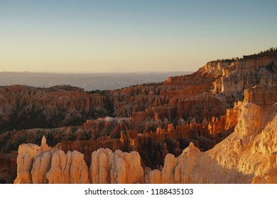 Bryce Canyon National Park hoodoos in the amphitheater hoodoos during sunrise