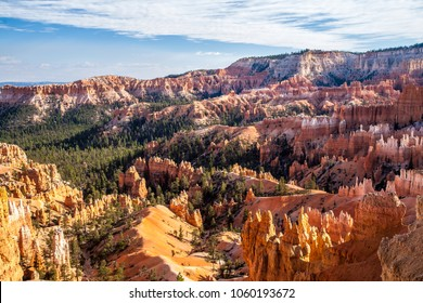 Bryce Canyon National Park, located in southwestern Utah. The park features a collection of giant natural amphitheaters and is distinctive due to geological structures called hoodoos.