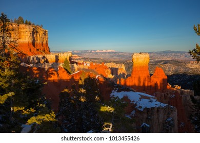Bryce Canyon National Park. Snow Mountains. Winter. National park in Utah. USA.