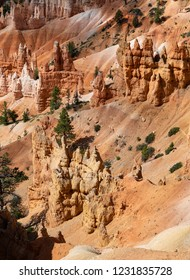 Bryce Canyon National Park, a sprawling reserve in southern Utah, is known for crimson-colored hoodoos,   It has overlooks at Sunrise Point, Sunset Point, Inspiration Point and Bryce Point.