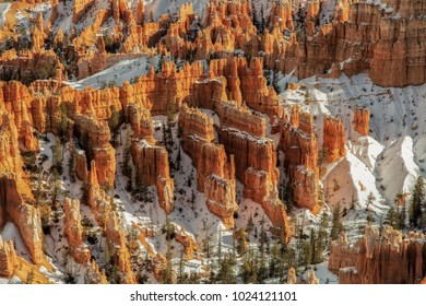 Bryce Canyon national park with a touch of snow.
