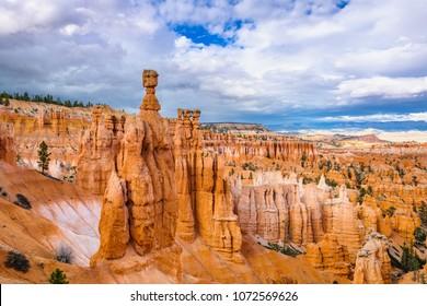 Bryce Canyon National Park, Utah, USA at Thor's Hammer.