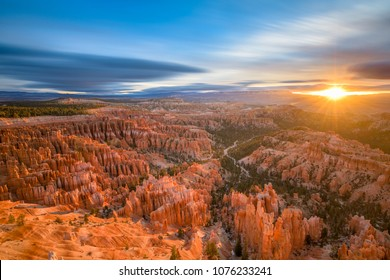 Bryce Canyon National Park, Utah, USA at dawn.