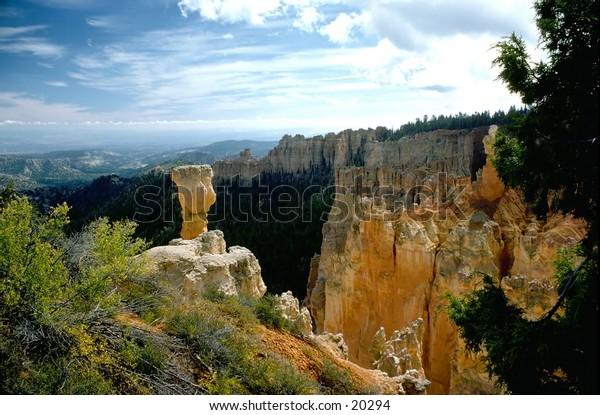 Bryce Canyon park hoodoos