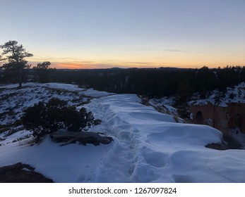 Bryce Canyon Utah National Park Mountains Background Snow View