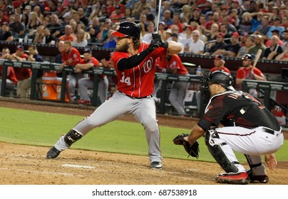 Bryce Harper right fielder for the Washington Nationals at Chase Field in Phoenix,AZ USA July 22,2017.