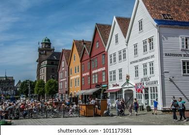 Bryggen Bergen, Norway. Unesco world heritage site.