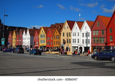 Bryggen (The Wharf), UNESCO's World Heritage City, historic houses