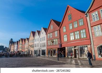 Bryggen (Tyskebryggen) the Hanseatic wharf in Bergen