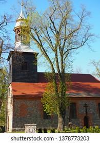 Brzoza, Polska 04-23-2019, Orthodox parish church dedicated to Saint. Michael the Archangel in Brzoza, lubuskie